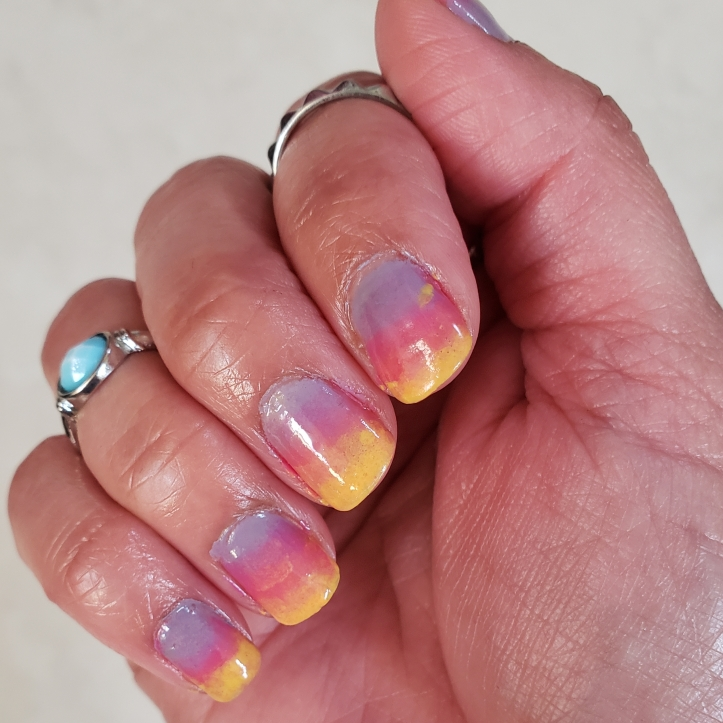 Mani Monday summer ombre nails